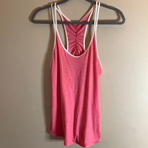 Lululemon Pink Striped Tank Top